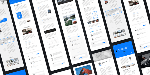 Article – minimalist, modern UI kit