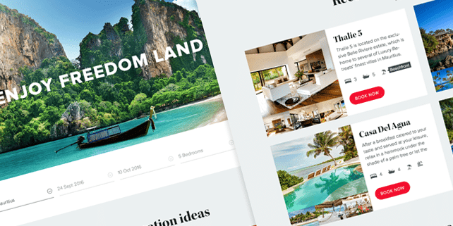 Private holidays – travel PSD theme