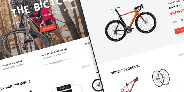 Bike sport – bike shop PSD template