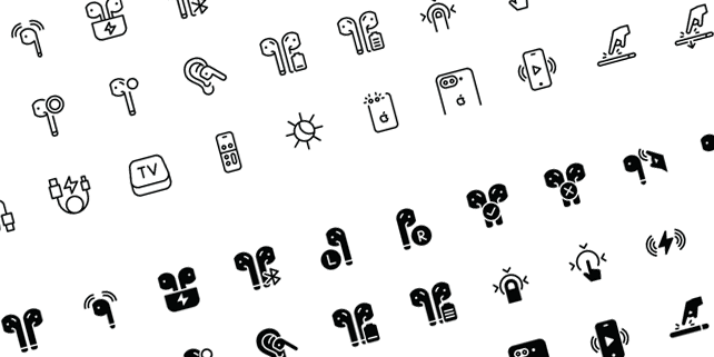 60 vector icons, Apple products