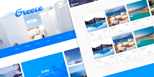 Atis – clean travel PSD template