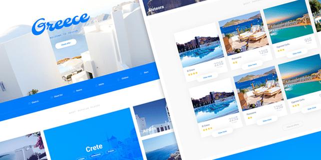 Atis – clean travel PSD template