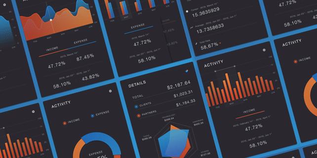 Beautiful charts UI kit (6 charts)
