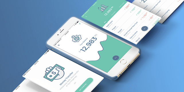 Neat banking/finance app UI kit