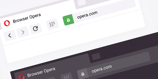 Opera browser vector mockup