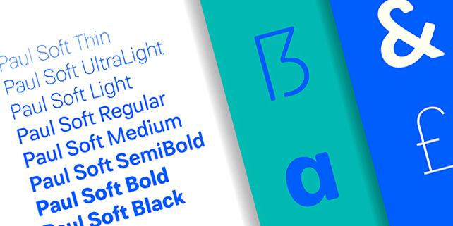 Paul Soft – elegant, rounded font