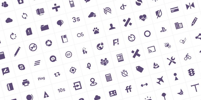 100 modern, customizable icons
