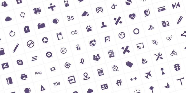 100 modern, customizable icons