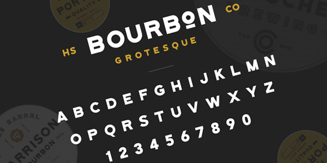 Bourbon Groteskue – stylish font