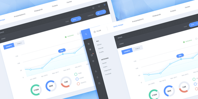 Clean and nifty admin PSD template