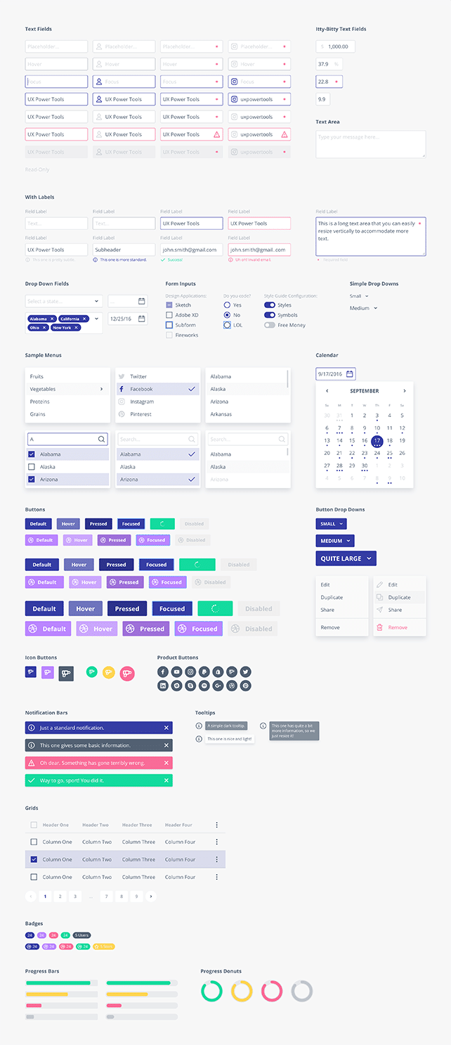components for sketch