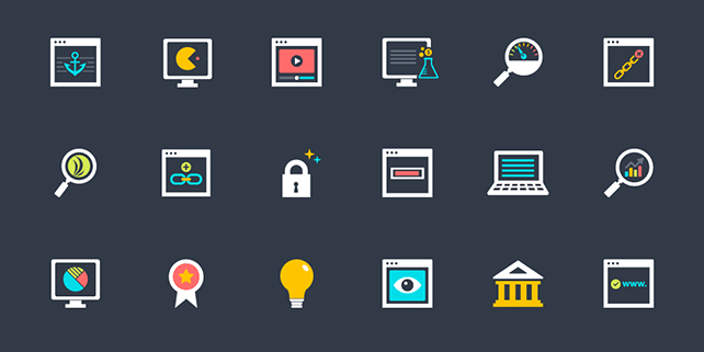 38 SEO vector icons