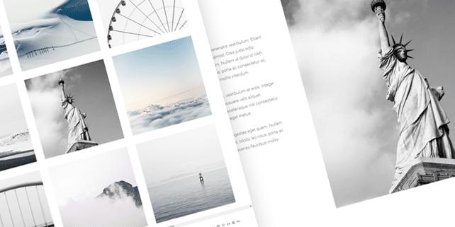 Bloc – photography WordPress theme