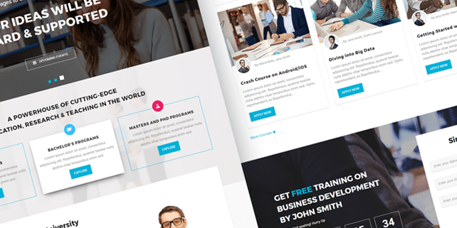 Bright – modern education HTML template