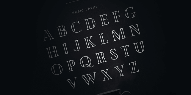 Cheque – beautiful, geometric font