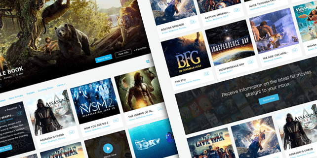 MovieRise – PSD template for movies