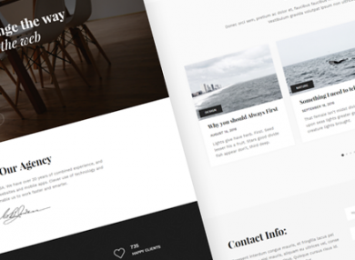 snow-clean-minimalist-html-template