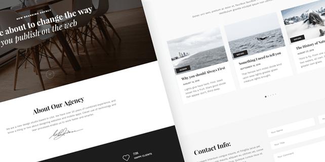 Snow – clean, minimalist HTML template