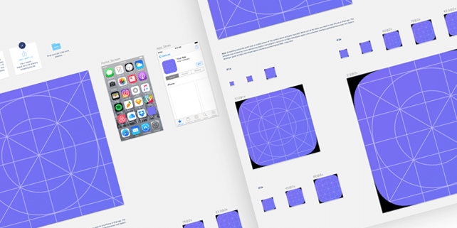 UI kit for designing iOS 10 app icon sizes