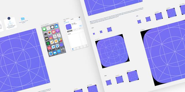 UI kit for designing iOS 10 app icon sizes