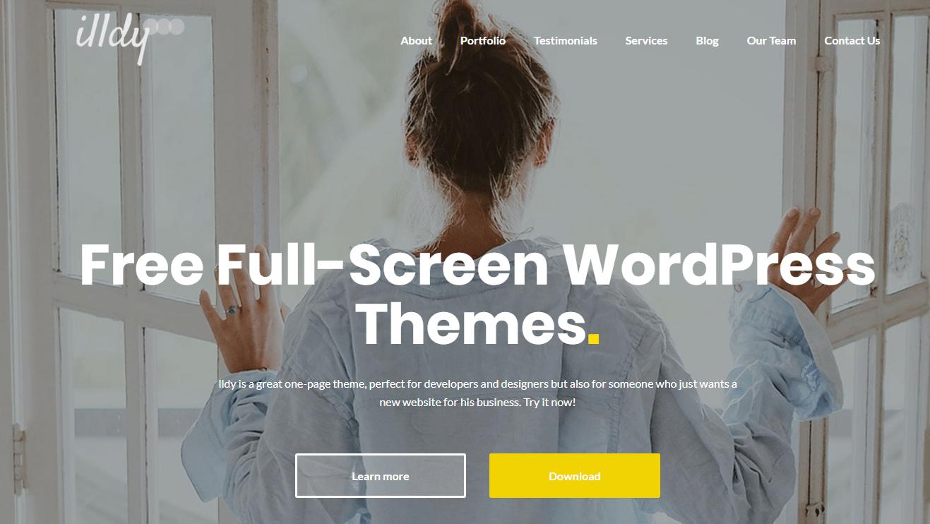 Best 15 Free Responsive Full-Screen Themes For WordPress