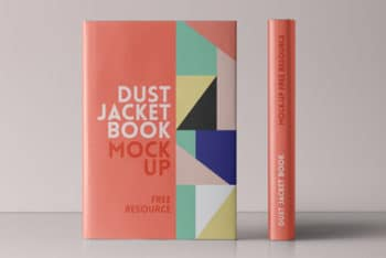 Dust Jacket Book Mockup Vol.4