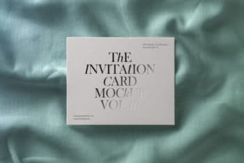 Invitation Card With A Touch of Elegance – Free PSD Mockup