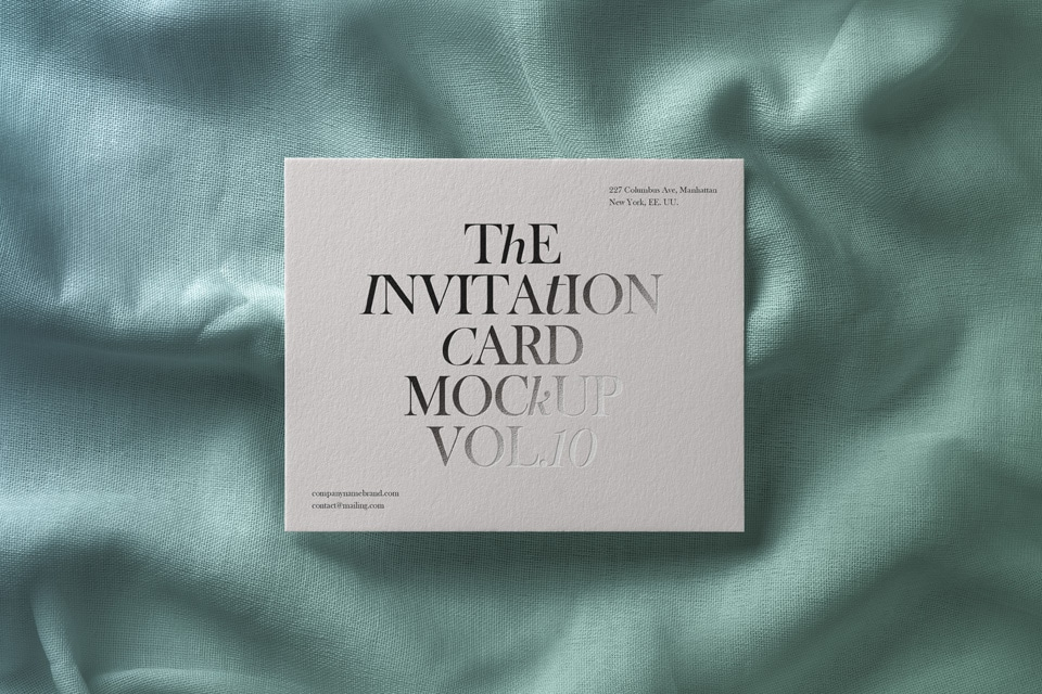 Invitation card psd mockup free download from designhooks invitation card with a touch of elegance free psd mockup stopboris Images