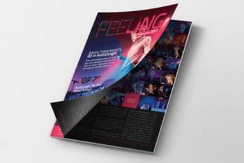 Page Peel Magazine Mockup Freebie