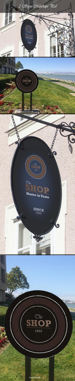 Two Shop Sign Mockups