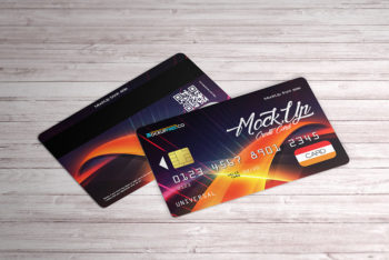 2 Free Credit Card PSD Mockups