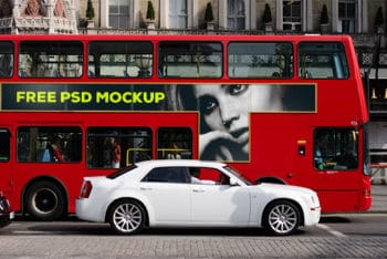London Bus Billboard Mockup