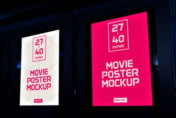 Movie Posters Mockup Freebie in PSD