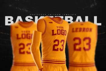 Basketball Uniform Jersey Mockup Freebie