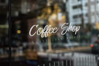 High-res Shop Window Mockup Freebie