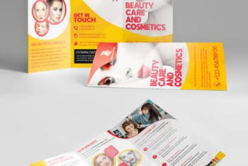 Download PSD Brochure Mockup for Promoting Your Beauty Salon