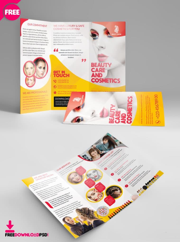 psd brochure mockup for beauty business promotion