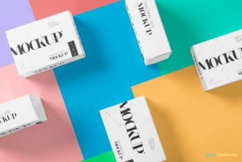 5 Different Sized Packaging Box PSD Mockup Download for Free
