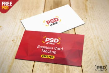 Create Attractive Business Cards with This Free PSD Mockup