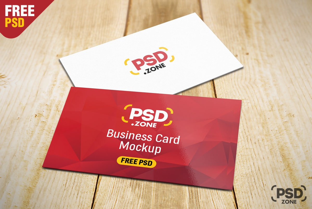 Free Business Card PSD Mockup Downloas - DesignHooks