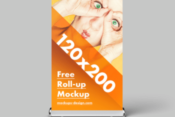 Roll-up Banner PSD Mockup Freebie