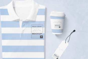 Fashionable Polo T-shirt PSD Mockup