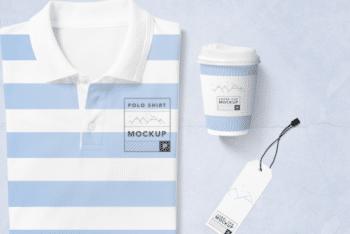 Fashionable Polo T-shirt PSD Mockup