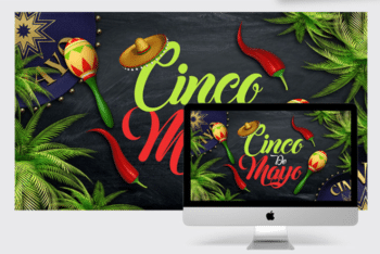 Spectacular CINCO DE MAYO PSD Wallpaper Mockup