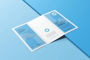 Sober Designed Tri-Fold Leaflet PSD Mockup
