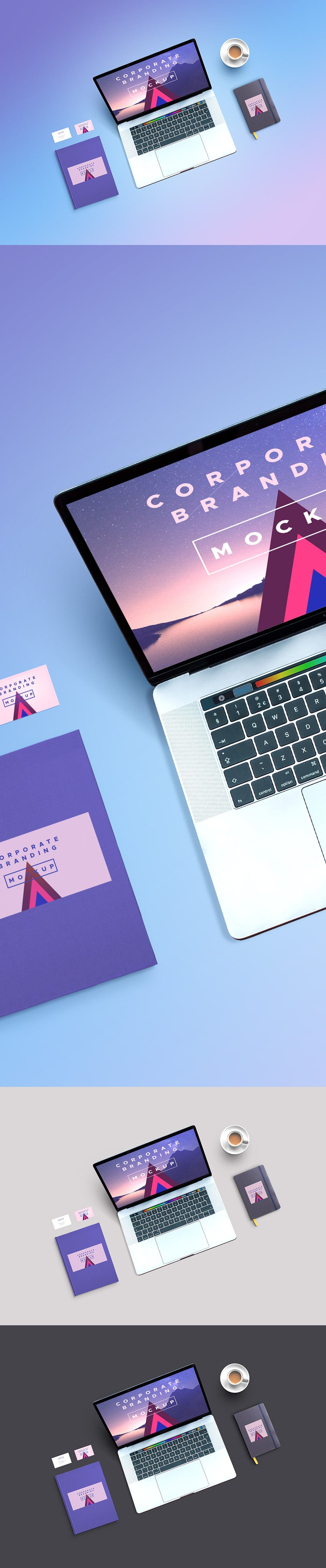 Corporate Branding MacBook Mockup