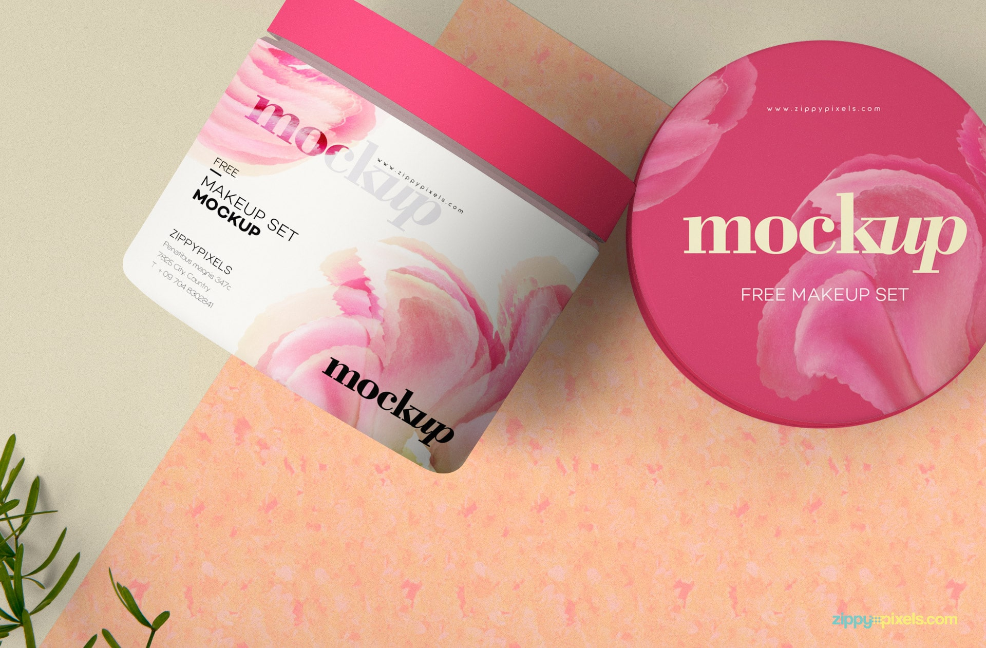 Perfect Cosmetic Container PSD Mockup