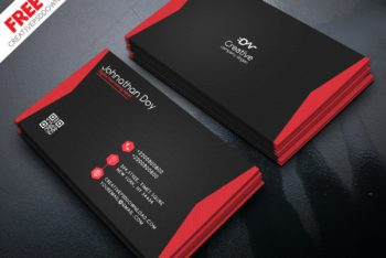 Business Card PSD Mockup with Minimalist Approach