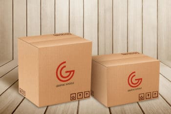 Delivery/Moving Box Mockups Freebie