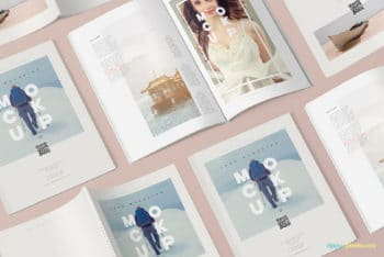 Creative PSD Magazine Mockup for Free